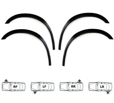 FORD ESCORT 1980-1990 Extensions d'aile 2 AV et 2 AR Noir ou Chrome SET NEUF