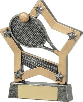 Tennis Star Trophy 130mm Engraved FREE