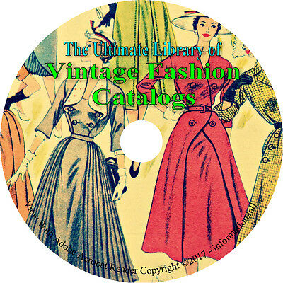 57 Catalogs on DVD, Ultimate Library of Vintage Fashion Catalogs, Clothing Books