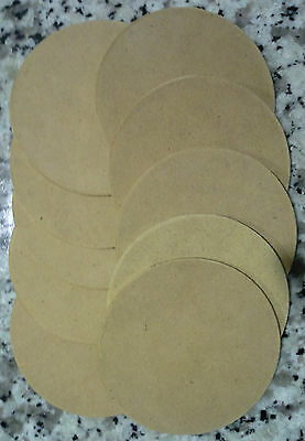 MAKE YOUR OWN COASTERS 10pkt - DIY - PLAIN WOODEN COASTERS ready to decorate