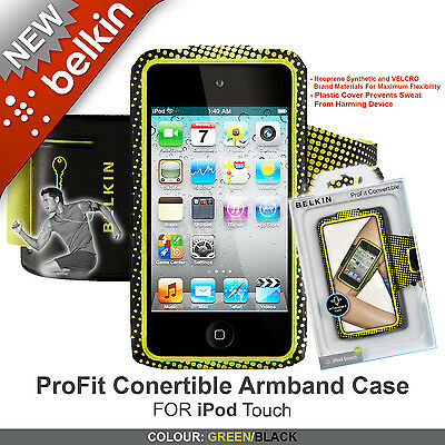Genuine Belkin ProFit Convertible iPod Touch Armband Case / Cover F8W017cwC00