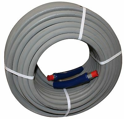 "200 ft 3/8"" Gray Non-Marking 6000 psi Pressure Washer Hose HOT WATER STEAM 200'"