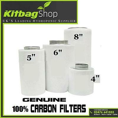 "Carbon Filter for extractor fan hydroponics grow kit 4"" 5"" 6"" 8"" 12"""