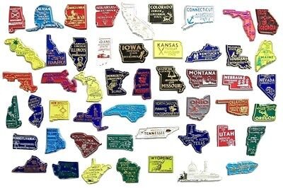 All 50 State Souvenir Magnets Washington DC and Puerto Rico Board Not Included