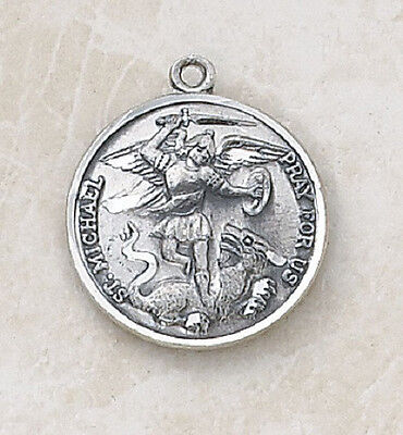 St. Michael /Guardian Angel Sterling Silver Medal ( Patron of Police)