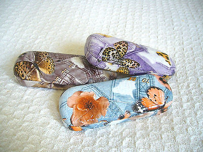 "LADIES WOMEN'S READING GLASSES - EYEGLASS CASES ""CASES"" 3 HOT BUTTERFLY DESIGNS"