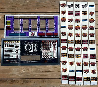 IGT AC Coin Slot Machine QUICK HIT Glass Kit  Belly & Reel Glass w/ Strips