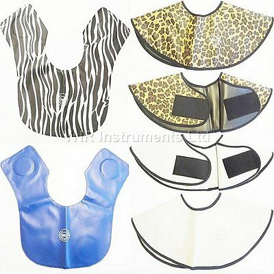YNR England Hairdressing Cutting Collar Faux Leather Capes & Gowns Salon Spa NEW