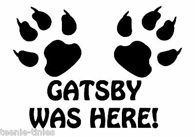 Personalised Was Here! Pet Cat Dog A4 Feeding Food Mat - Laminated - Wipe Clean