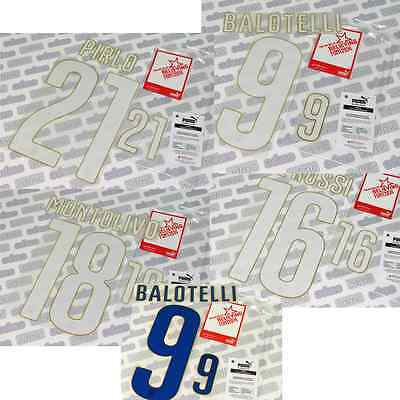 Italy National Team Brazil 2014, Puma official name set, printings