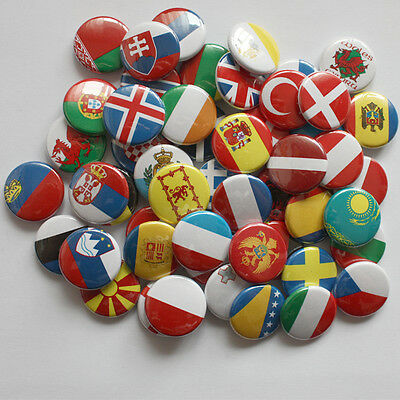 EUROPA Buttons / Nationalflaggen Button Badge 25mm Fahne Europe flag pin EU