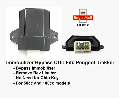 Immobiliser Chip Key Bypass CDI for Peugeot Trekker 50cc 100cc ACI100 ACI100.01