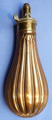 ENGLISH 19TH CENTURY COPPER POWDER FLASK BY JAMES DIXON & SONS - FREE SHIPPING!