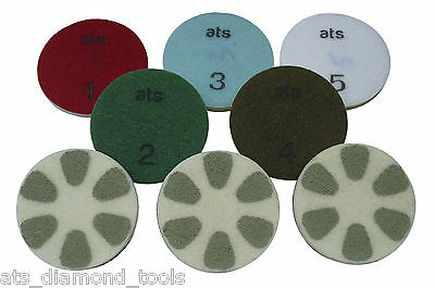 ATS Pro Refinishing Diamond Re polishing pads Marble Granite Travertine Terrazzo