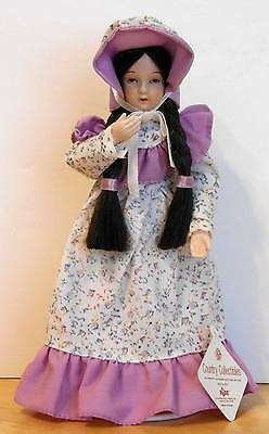 """""""Bernadette"""" Porcelain 9"""" Display DOLL with STAND - Russ Country Collectibles"""
