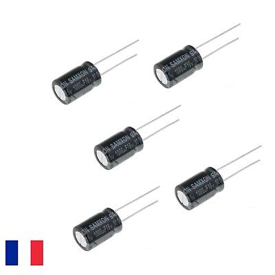 Lot de 5 condensateurs chimique 1000µF 16V 1000mF 1000uF radial 105°