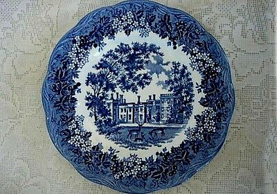 Vintage J.&.G. MEAKIN Romantic Kent Penshurst Place Blue Plate - Made in England