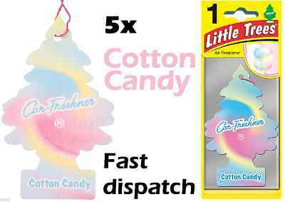 "Magic Tree ""little Tree"" Cotton Candy Fragrance Car Air Fresheners Pack Of 5"