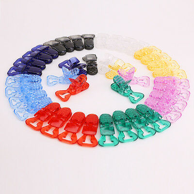 40 Baby Pacifier Plastic Clips Badge Soother Comforts Crafts Holder