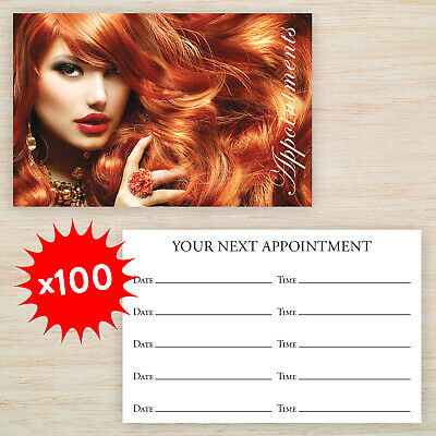100 x Quality Appointment Cards Hairdresser Salon Double Sided with Storage Box!