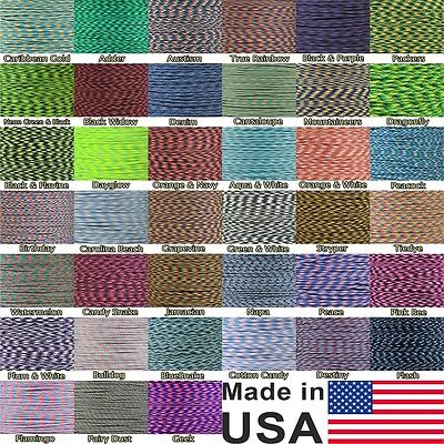Multi Colors 550-LB Paracord Parachute Cord 7-Strand 10, 20, 50, 100 FT