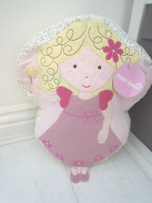Vintage Pink Ditsy Flower Fairy Angel Shaped Cushion Nursery Gift Daughter Girl
