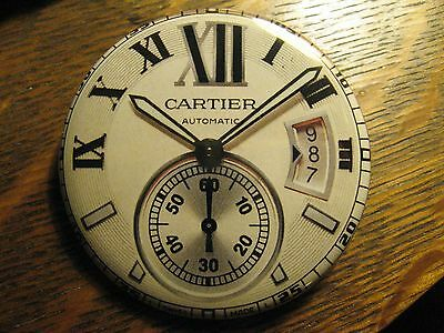 Cartier Automatic Multi Dial Swiss Watch Advertisement Pocket Lipstick Mirror