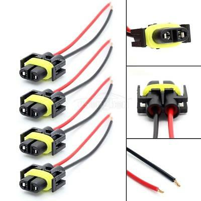 4X 880 H11 881 Extended Wiring Harness Sockets Connector For Fog Driving Lights