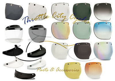 *Ships Same Day* Bell Custom 500 Shield & Visor (Retro, 510, 520, Bubble, Flip)
