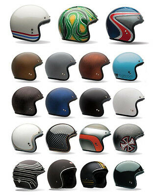 *FAST SHIPPING* Bell Custom 500 Open Face Motorcycle Helmet (Solid, Carbon, 74