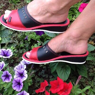Lady Women Sheepskin Cozy Woolen Slippers Red Suede Real Leather home garden new