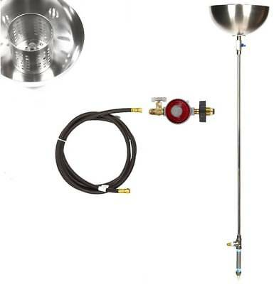 """Torch36BCK: DIY Complete Stainless Propane TIKI TORCH/ FIRE BOWLS 44"""" Tall Kit"""