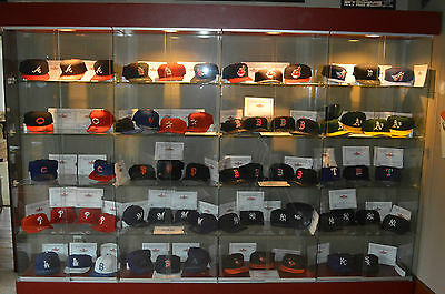 2001 Fleer Legacy MLB COMPLETE SET (61) Fitted Autographed Signed Hats Caps