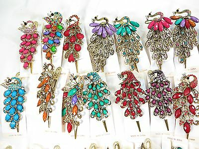 US SELLER-wholesale lot of 5 alligator clip hair clips with crystal