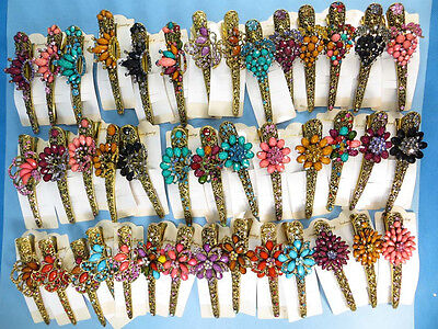US SELLER-wholesale 10 hair clip rhinestone vintage alligator clip crystal