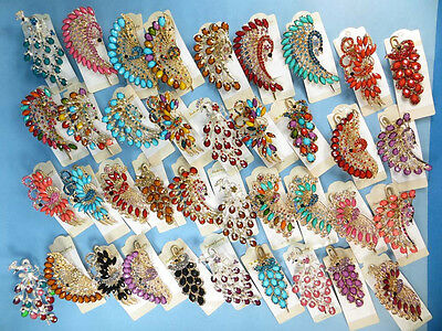 US SELLER-wholesale 10 peacock antique vintage retro alligator clip hair clips