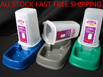 Automatic Pet Dog Cat Puppy Water Food Feeder Fountain Bowl Dish Dispenser