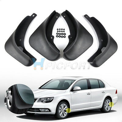 Mud Flaps Splash Guard 4pcs For 2008-2011 2012 2013 2014 SKODA SUPERB Mudguard