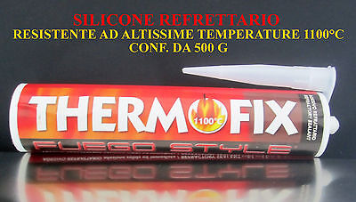 Fire Rope Adhesive Resistant1100°C Silicon High Temperature For Fire Rope 310Ml