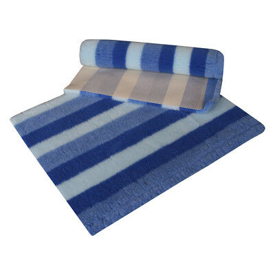VETFLEECE Non Slip Deep Pile Fleece Vet Bed Roll Dog Cat With Stripe Design