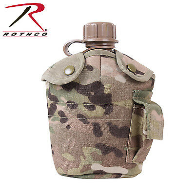 New GI Style MOLLE Compatible Multicam Canteen Cover - Includes 1 Quart Canteen!