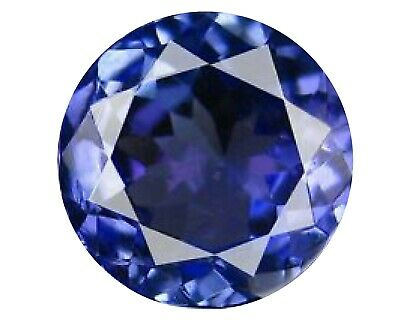 BJC® Loose Round Brilliant Cut Natural Untreated Tanzanite Stones AAAA Grade