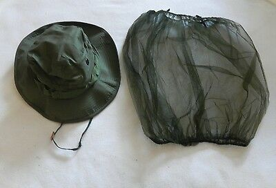 Government Issue US Military Surplus Boonie Hat Insect Netting Vietnam  6 7/8