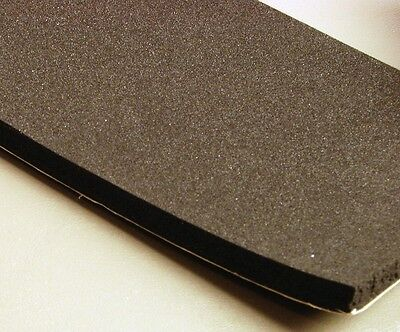 """3/8"""" x 4"""" Neoprene Foam Rubber with Adhesive Back    NFR.375-4-AB"""