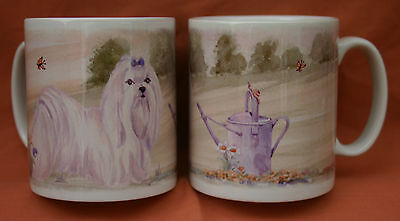 MALTESE DOG Mug watercolour painting Sandra Coen Off to the Dog Show print