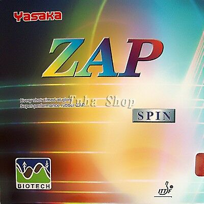 Yasaka ZAP SPIN BIOTECH NO ITTF Pips In Table Tennis Rubber With Sponge