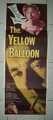 The Yellow Balloon 1953 Rare Vintage Us Insert Poster Kenneth More/sid James