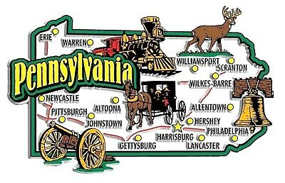 Pennsylvania Jumbo State Map Fridge Magnet
