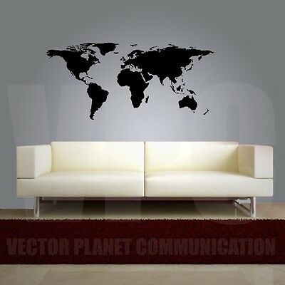 wall stickers planisfero world map adesivo murale cartina mappa mondo a0196