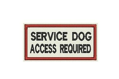 Service Dog  - Access Required Patch Custom Embroidered for your dog